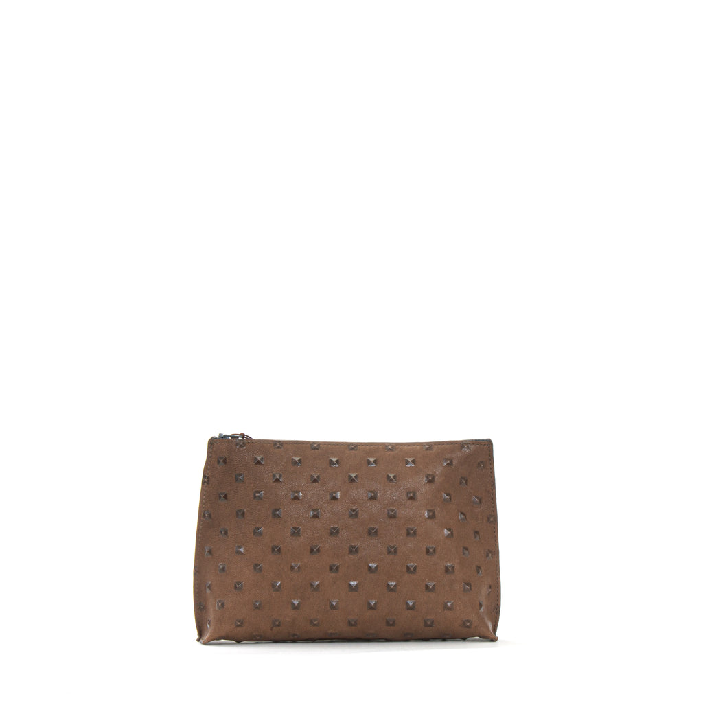 EVERYDAY POUCH TAUPE EMBOSSED STUD