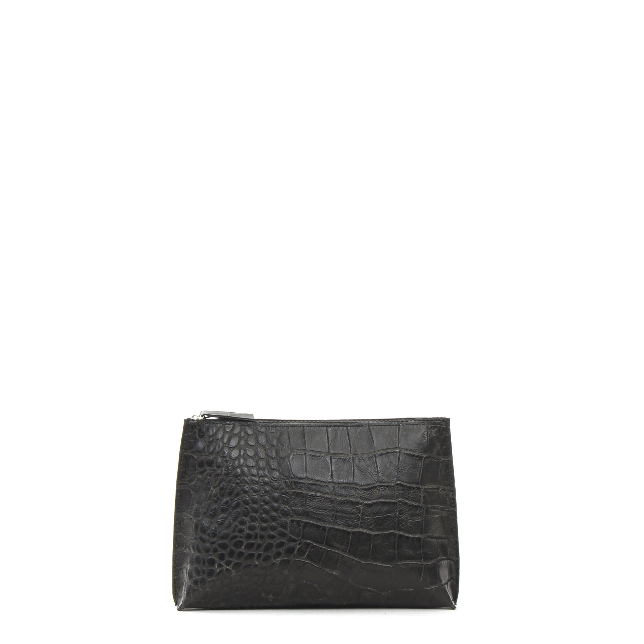 EVERYDAY POUCH VINTAGE BLACK EMBOSSED GATOR