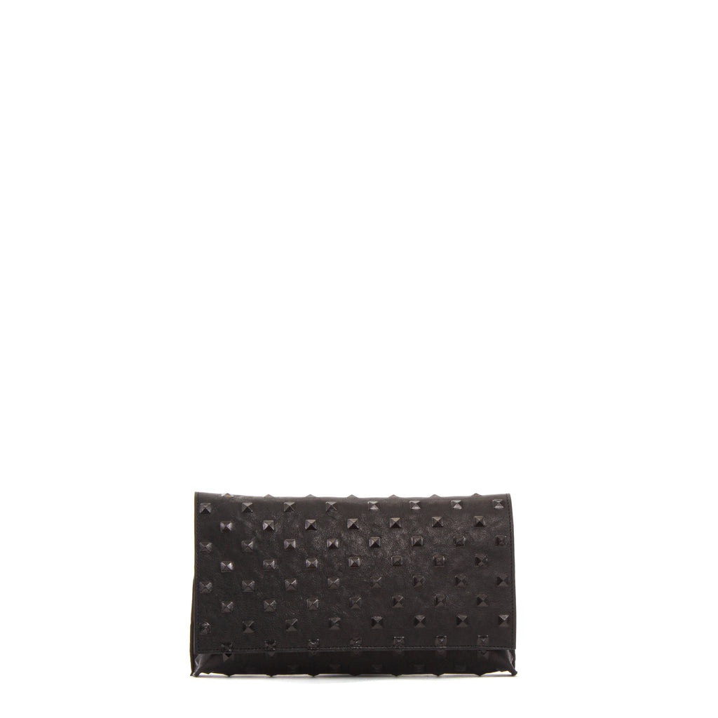FOLDOVER CLUTCH BLACK STUD