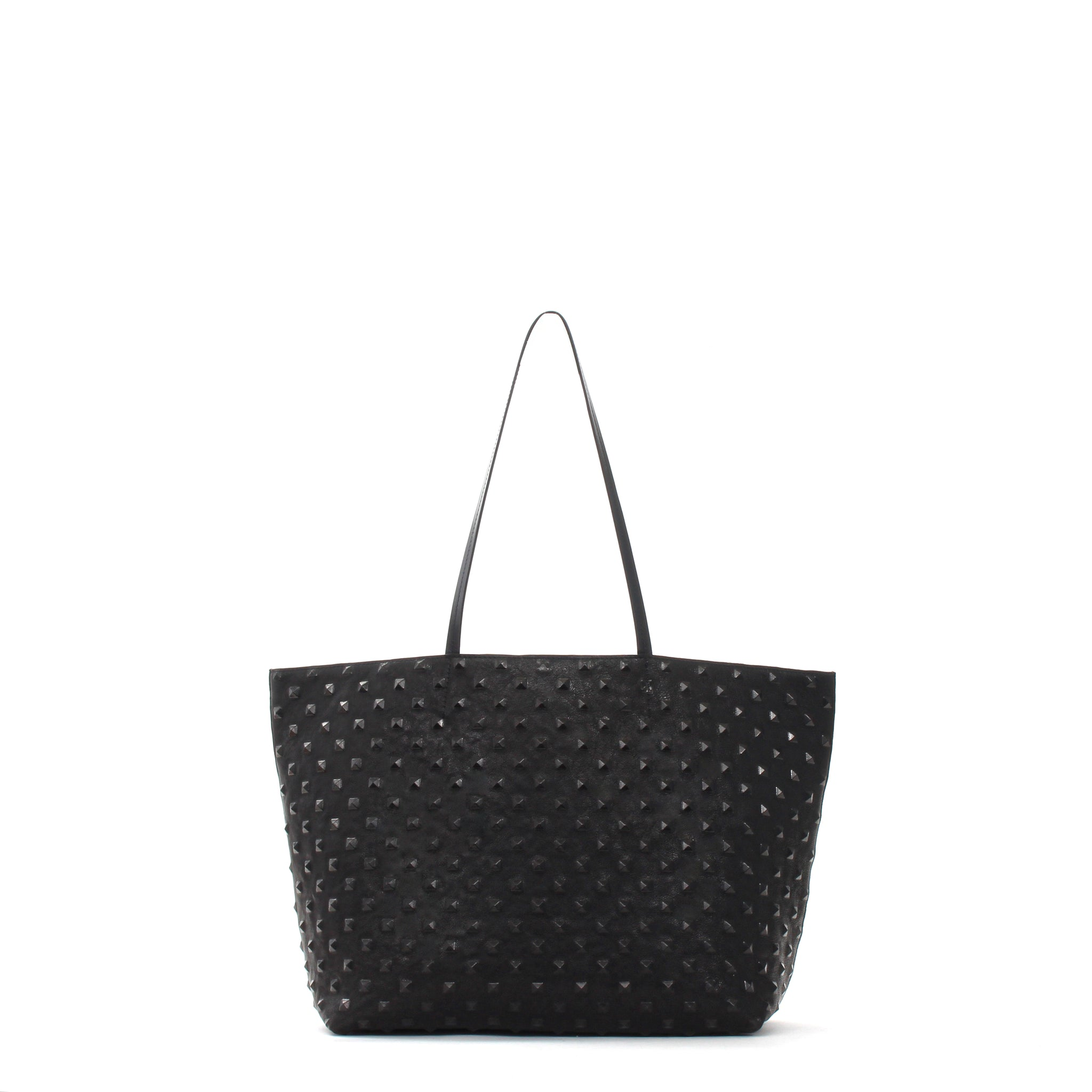 MEDIUM ESSENTIAL TOTE BLACK STUD