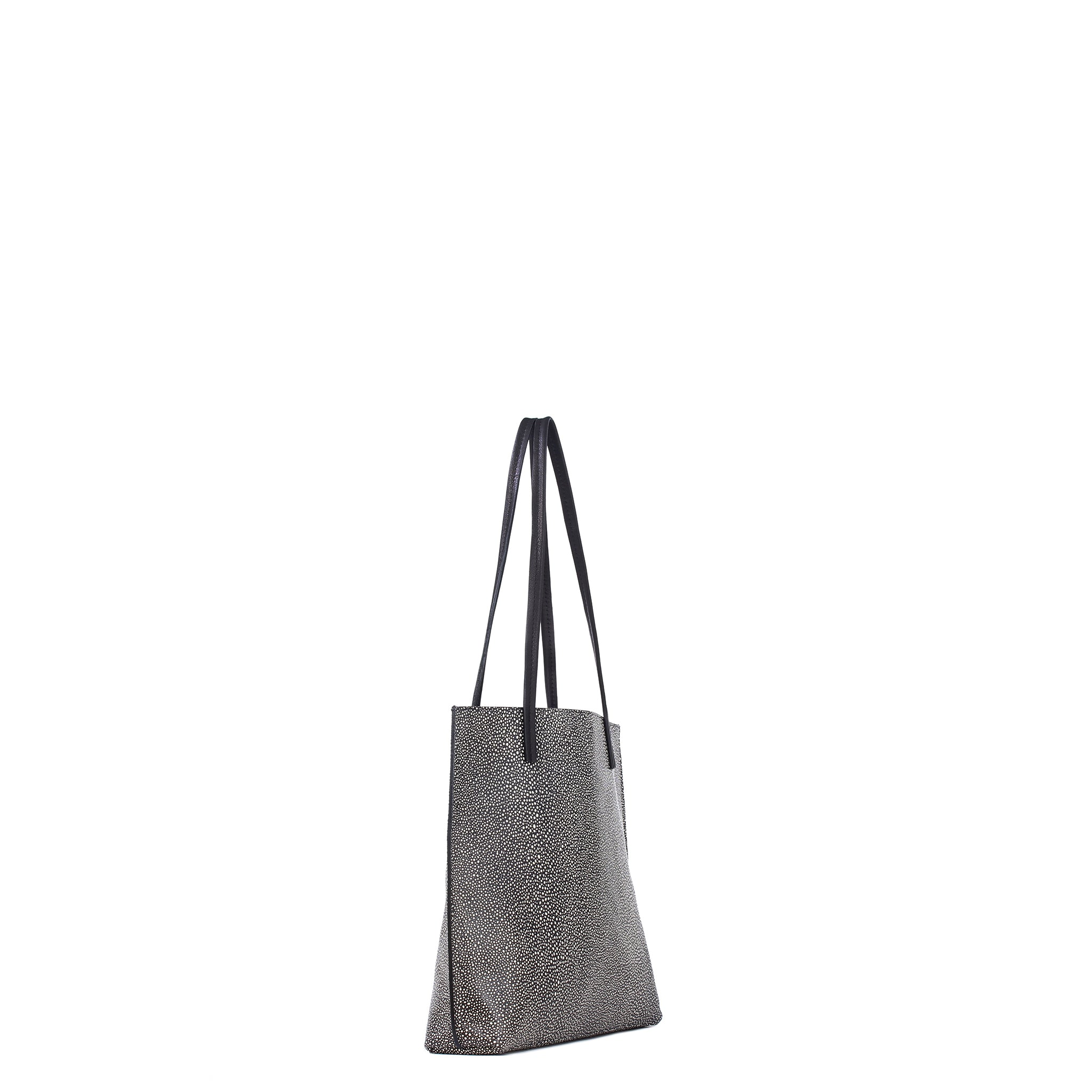 MEZZO SHOPPER BLACK SHAGREEN