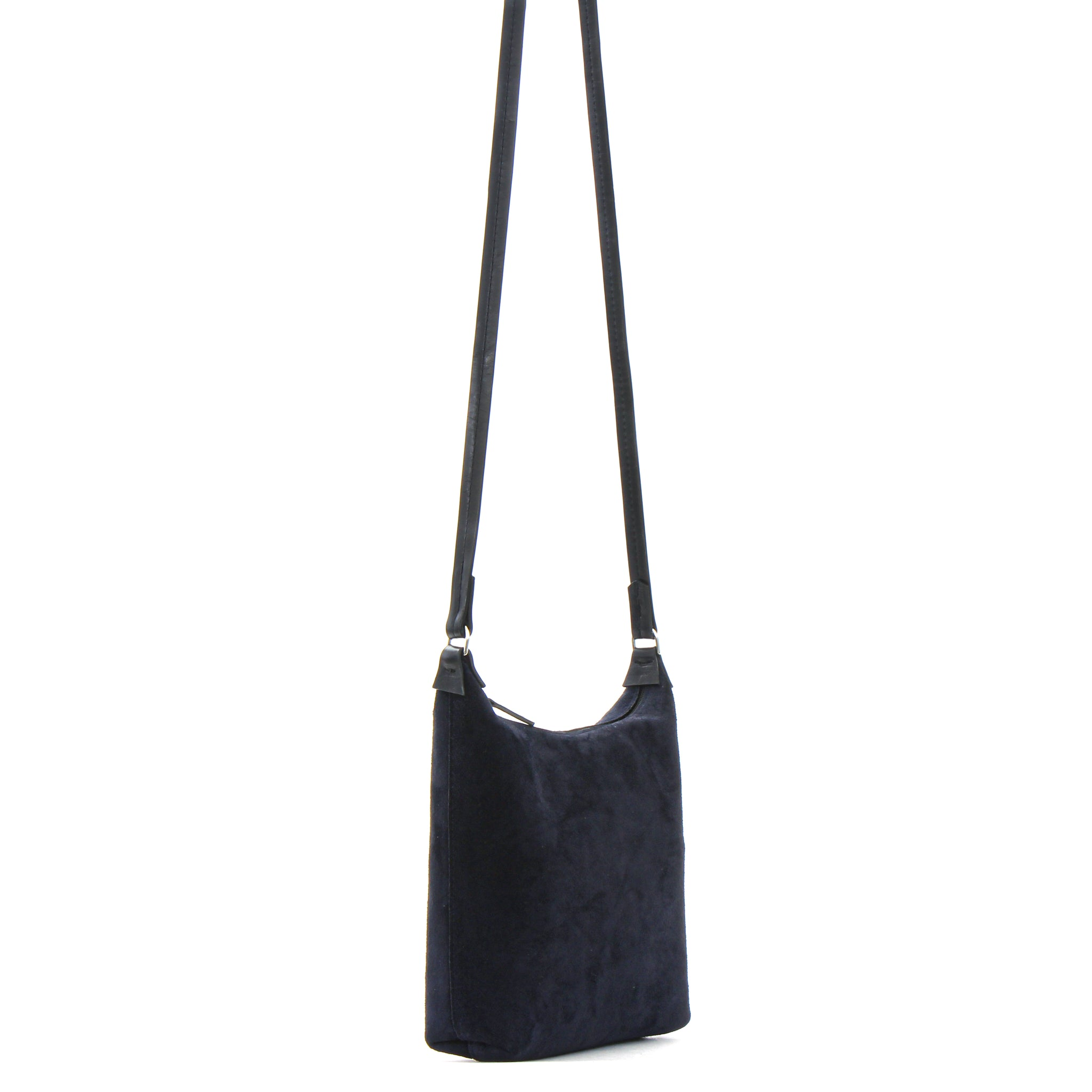 MINI ZIP CROSSBODY EMPIRE BLUE SUEDE