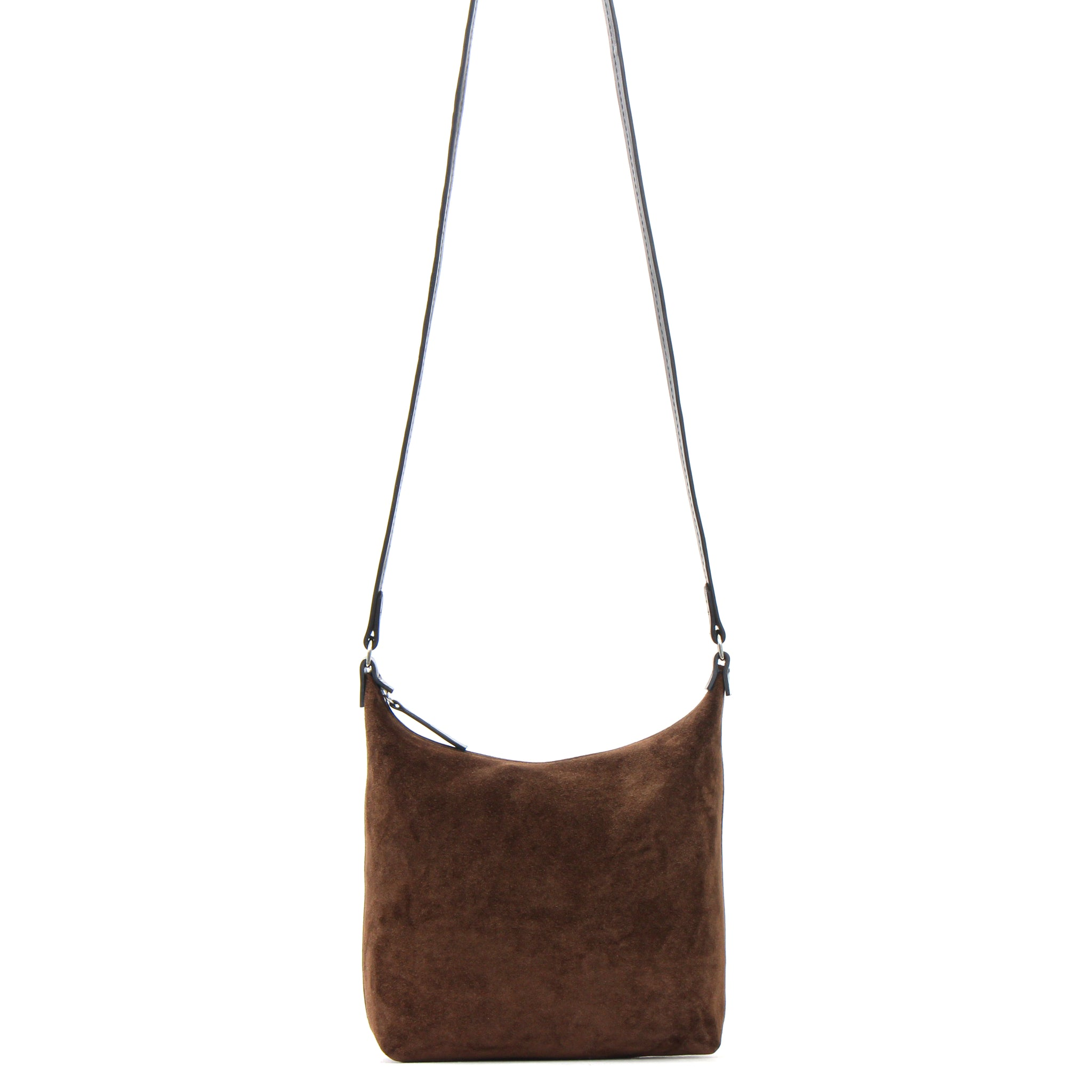 MINI ZIP CROSSBODY MOCHA SUEDE