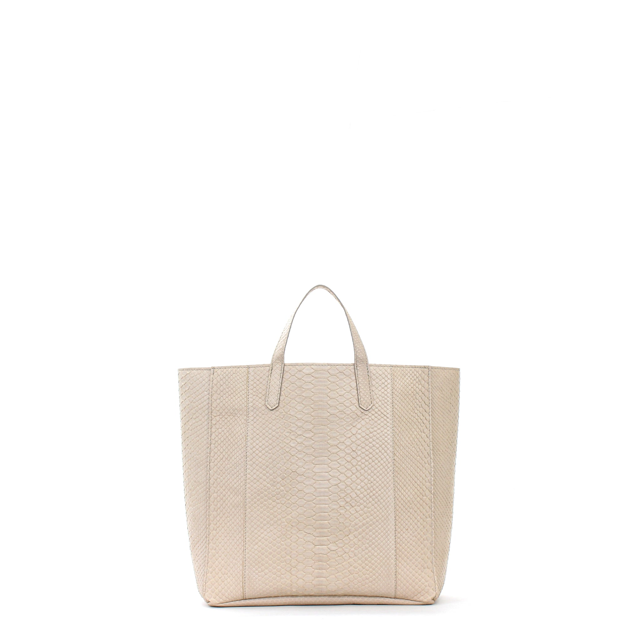 SLOUCHY TOTE DUNE PYTHON
