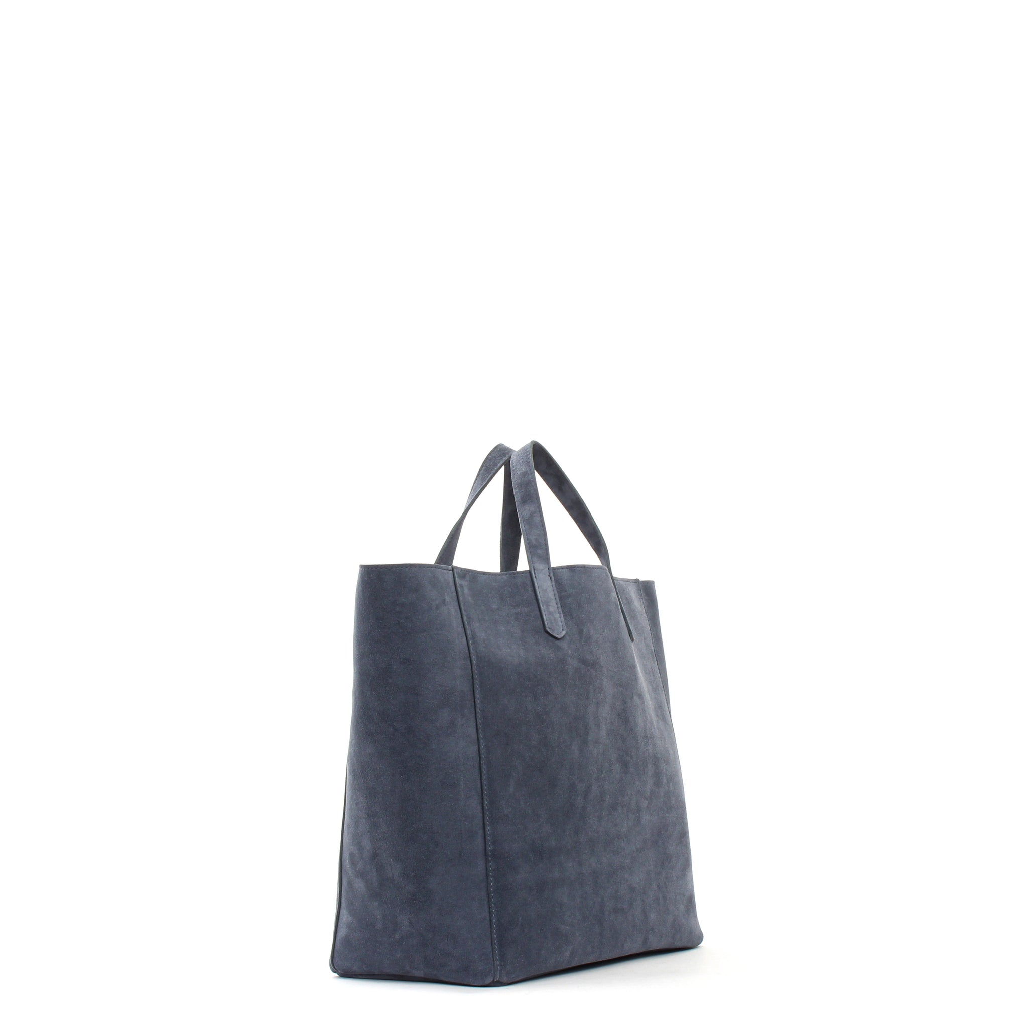 SLOUCHY TOTE SLATE SUEDE