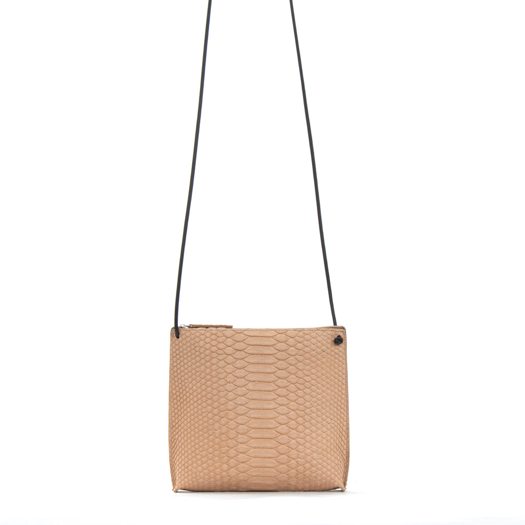 STRAPPY POUCH NUDE PYTHON