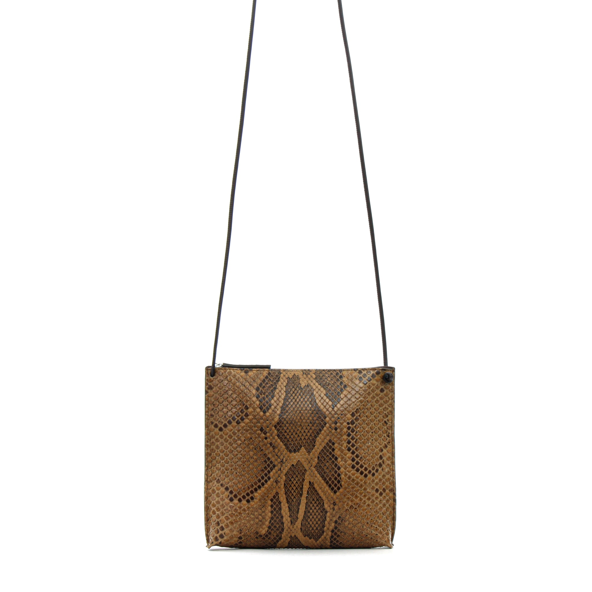 STRAPPY POUCH TOFFEE PYTHON