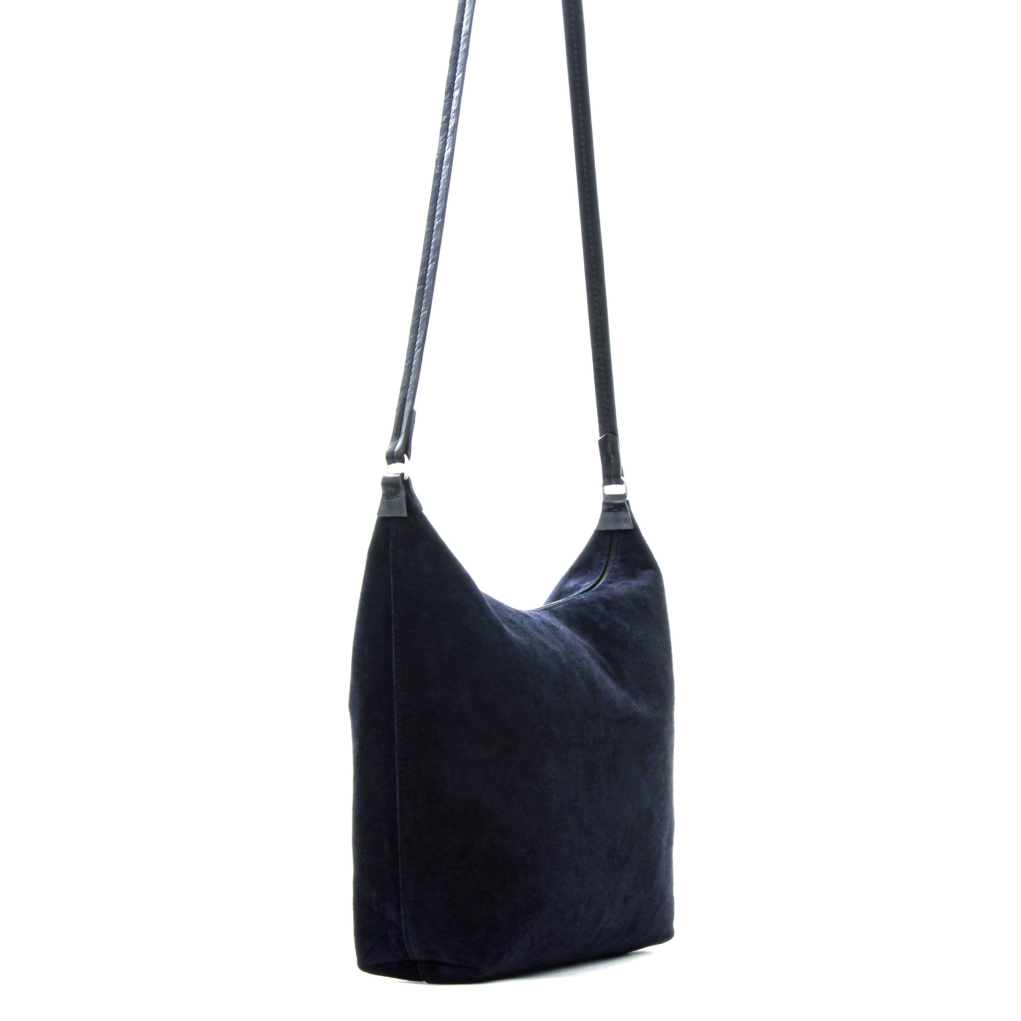 ZIP CROSSBODY EMPIRE BLUE SUEDE