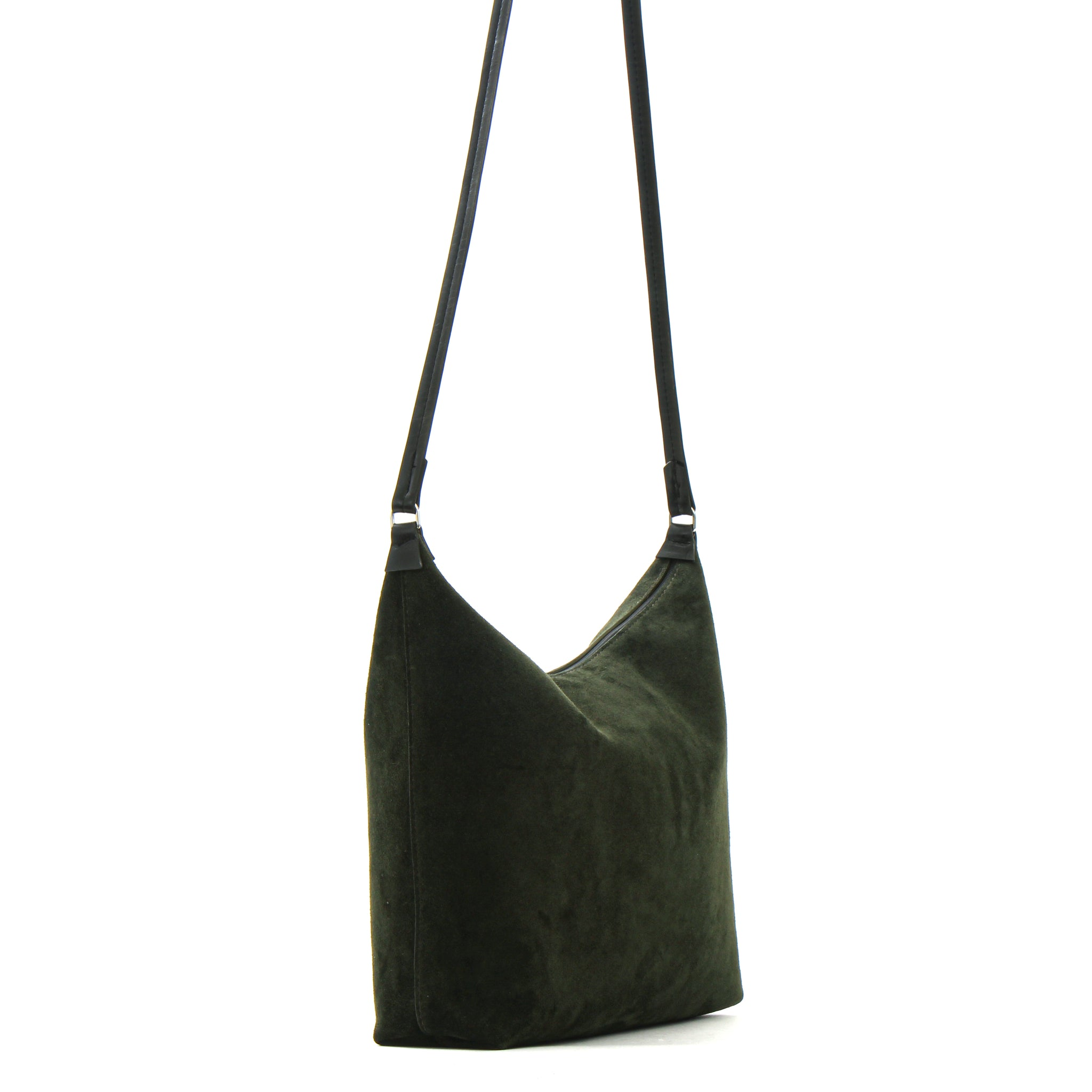 ZIP CROSSBODY PINE SUEDE