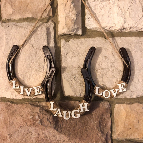 Handmade 3 Horseshoe Wall Decor