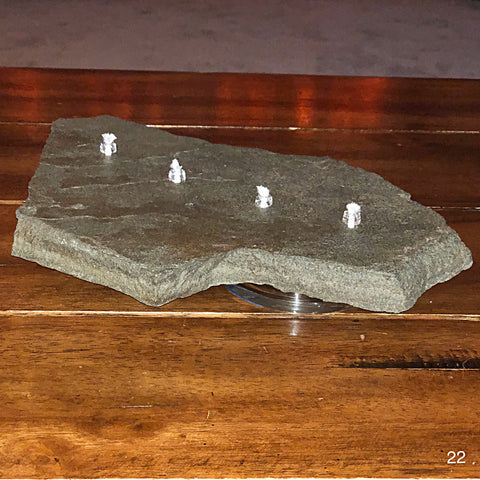 Oil Burning Rock Candle 4 Wick (#22)
