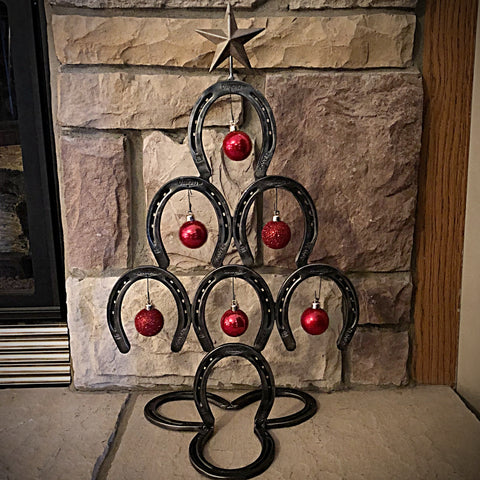 Rustic Horseshoe Christmas Tree (small)