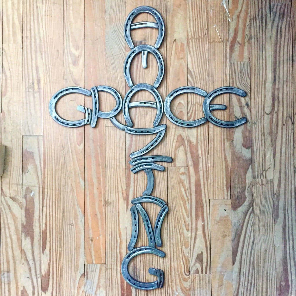 Amazing Grace: 'Amazing Grace' Horseshoe Cross