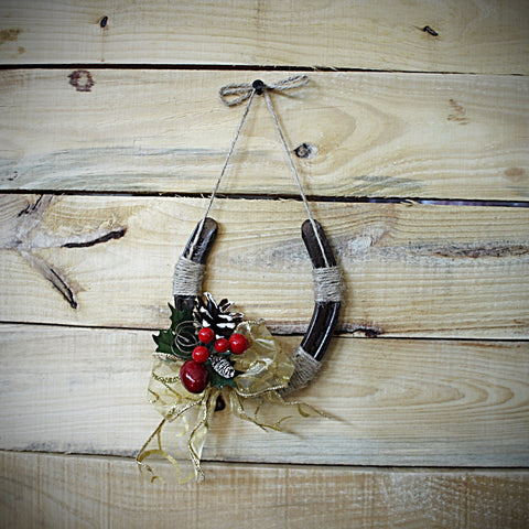 Christmas Holiday Horseshoe Decor