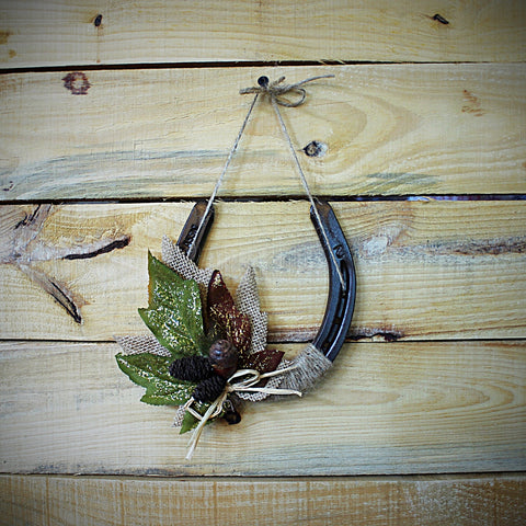 Fall Horseshoe Wall Hanging Decor