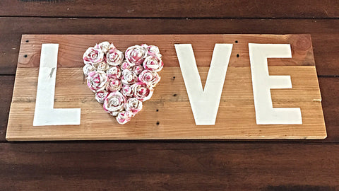Rustic Love Wood Sign Reclaimed Wood