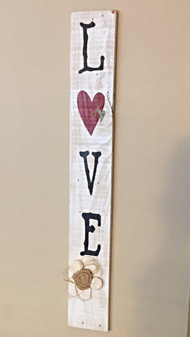 Love Rustic Wood Sign Reclaimed Wood