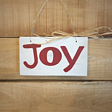 Joy - Christmas Hanging Wood Sign