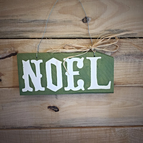 Noel - Christmas Hanging Wood Sign