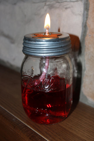 Rustic Pint Size Oil Lamp