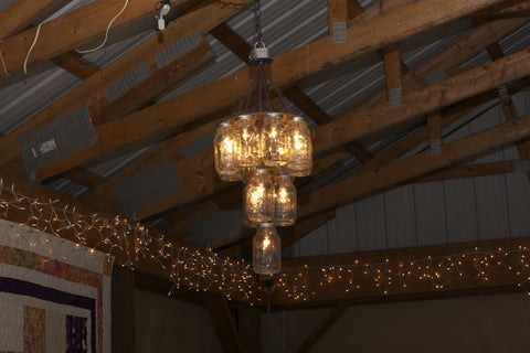 3 Tier Mason Jar Chandelier