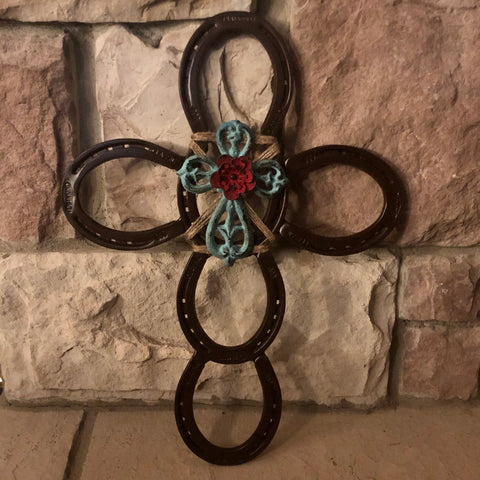 Rustic Horseshoe Cross with Cross