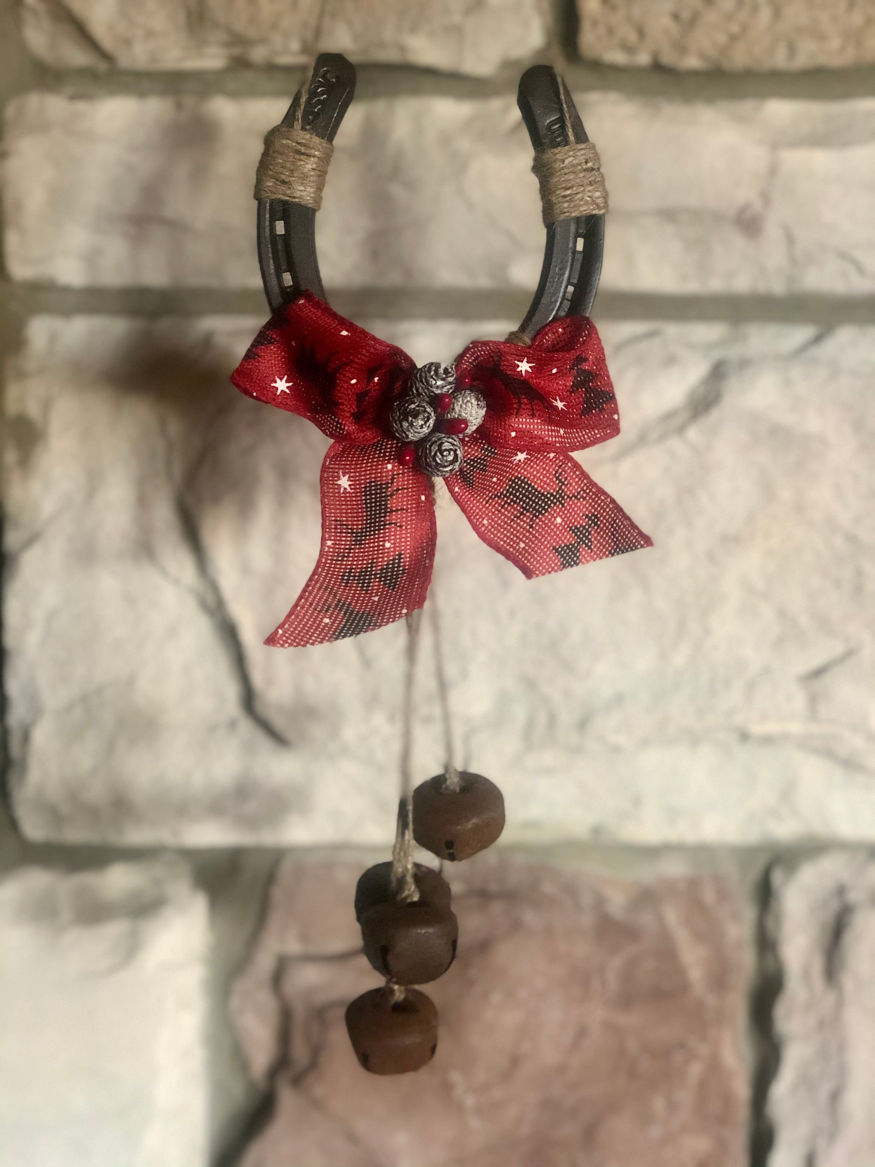 Christmas Holiday Horseshoe Decor With Bells Back Home Country Acres