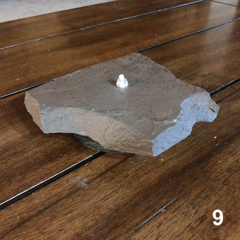 Oil Burning Rock Candle 1 Wick (#9)