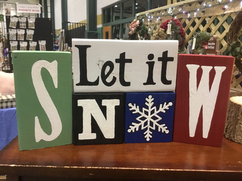 Let it Snow Christmas Block Set