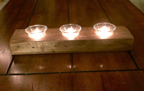 Reclaimed Wood Votive Tealight Candleholder