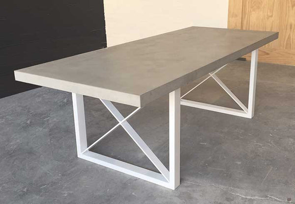 Polished Concrete Metro Dining Table