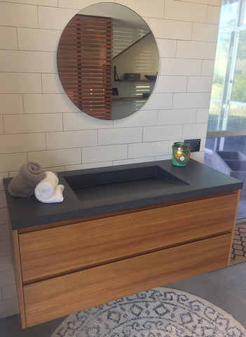 Polished Concrete & Timber Vanity Unit