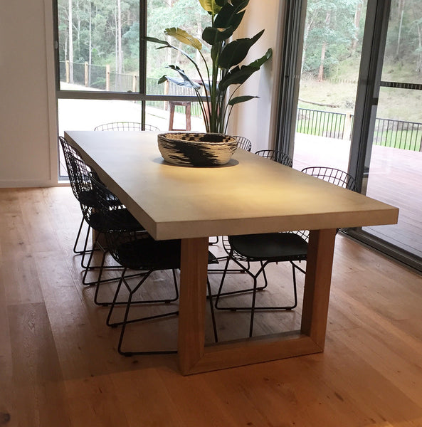 Polished Concrete Blocks Dining Table