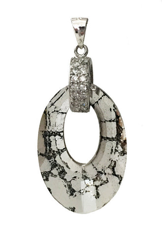 Helios Pave Pendant Embellished with Crystal from Swarovski Black Patina