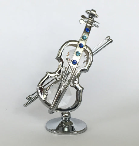 Violin Figure Made with Crystals from Swarovski