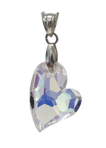 """Devoted to U"" Heart Pendant Embellished with Crystal from Swarovski"