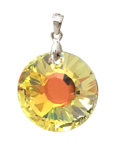 Sun Pendant Embellished with Crystal from Swarovski