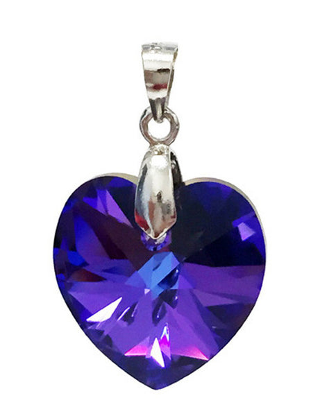 Heart Pendant Embellished with Crystal from Swarovski 18mm