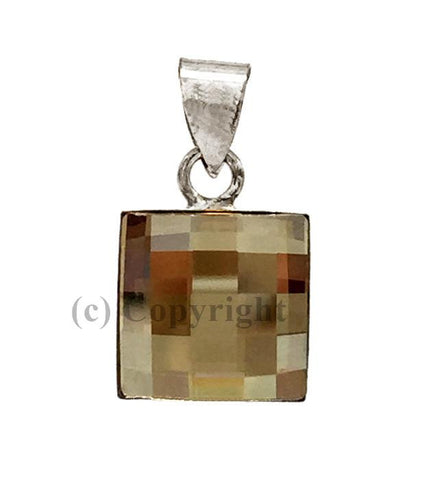 Chess Board Pendant Embellished with Crystal from Swarovski 10mm