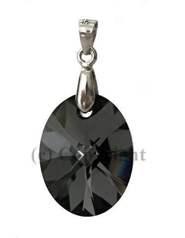 Xilion Oval Pendant Embellished with Crystal from Swarovski