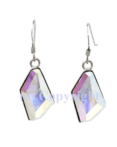 Sterling Silver 925 Earring Embellished  with Crystals from Swarovski De-Art 19 mm