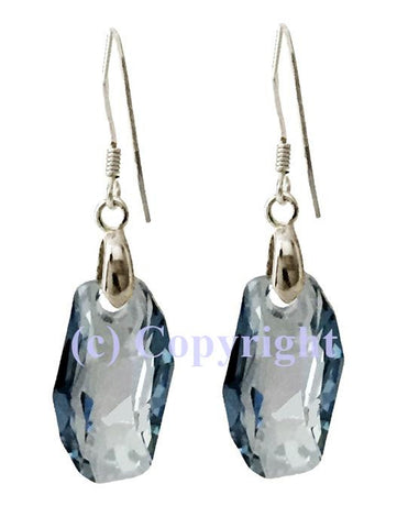 Sterling Silver 925 Earring Embellished with Crystals from Swarovski Meteor 18 mm