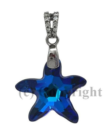 Starfish Pendant Embellished with Crystal from Swarovski