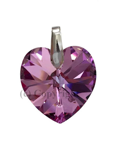 Heart Pendant Embellished with Crystal from Swarovski 14mm