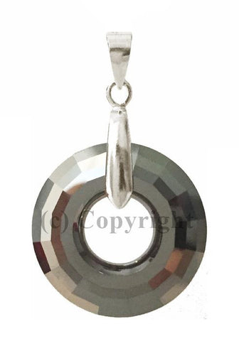 Disc Pendant Embellished with Crystal from Swarovski 25mm