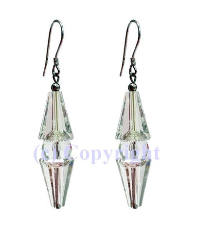 Sterling Silver 925 Luster Earring Embellished with Crystals from Swarovski
