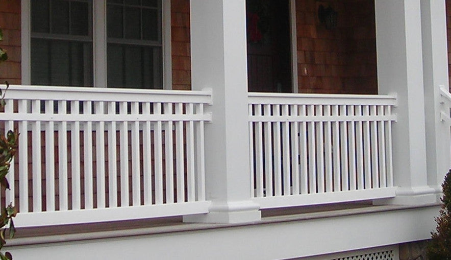 Vinyl Railing Mid-Rail Kit with Square Balusters
