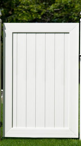Tongue & Groove Vinyl Privacy Walk Gate