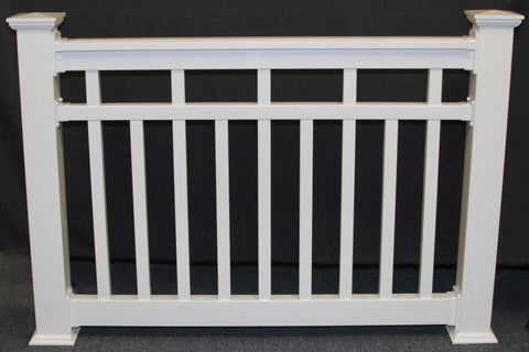Vinyl Railing Mid-Rail Kit with Alternating Square Balusters