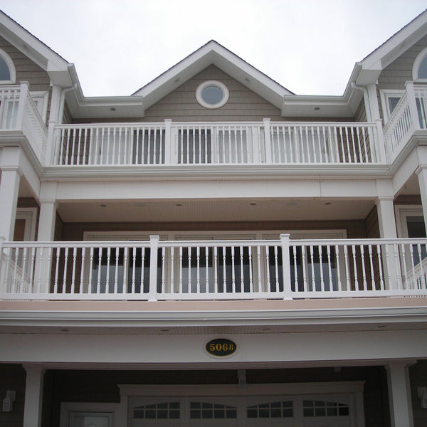 Vinyl Railing Kit With Colonial Balusters American